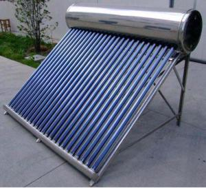 China Pressurized solar water heater with heat pipe solar collector on sale