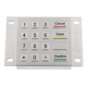 China Braille symbol keypad with industrial stainless steel metal material alpha numeric 16 key ATM keypad on sale
