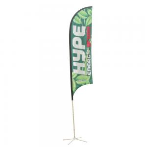 China Outdoor Flying Advertising Banner Flags Cross Base Beach Promotional Flag Banner on sale