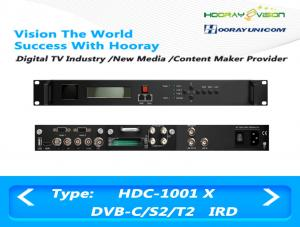 China Digital Satellite Receiver DVB-C DVB-S2 DVB-T2 Input  ASI IP output support CAM on sale