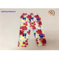 Super Soft Baby Girl Floral Leggings Flower Print For Fall / Winter Sample Approval