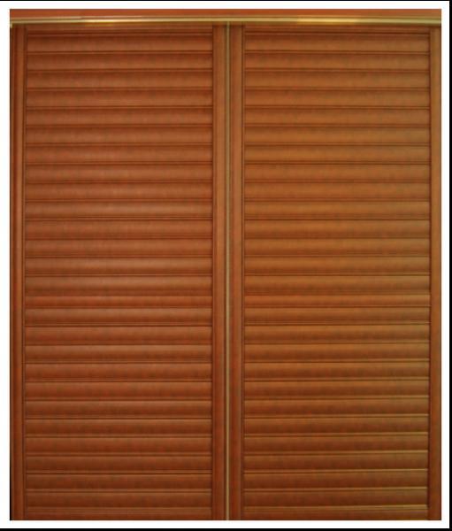 Wooden Sliding Louvered Closet Doors Bedroom Plate Aluminum Sliding