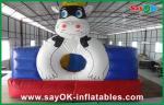 Leão-de-chácara inflável gigante vermelho/azul da vaca do PVC para o parque de diversões