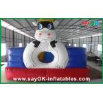 Videur gonflable géant rouge/bleu de vache à PVC pour le parc d'attractions