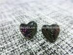 Dichroic Glass stud earrings heart shaped fashion  for Women Jewelry European by original factory wholsale supplier