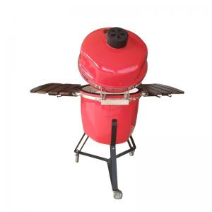 China wholesale outdoor kitchen ceramic outdoor porcelain enameled cast iron cooking grates kamado camping grill on sale