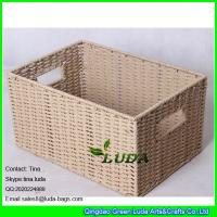 LDKZ-051 natural paper rope woven storage bin 2016 new home storage basket