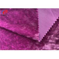 Polyester Spandex Shiny Stretch Brushed Ice Velvet Fabric , Dress Fabric