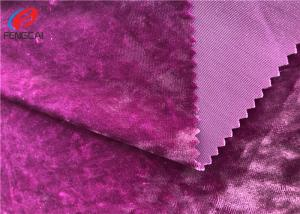 China Polyester Spandex Shiny Stretch Brushed Ice Velvet Fabric , Dress Fabric on sale