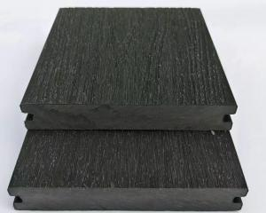 China 140X23 composite charcoal color wpc decking end caps wpc deck co-extruded decking on sale