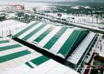 Outdoor Sport Shelter Tent With Colorful Green And White For Football Venue
