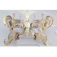 China Black Mask Metal Mask Filigree Swarovski Crystal For Woman Weddings on sale