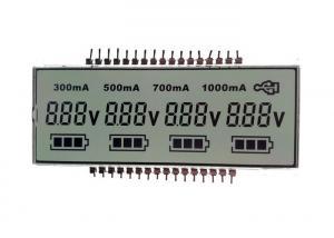 China Custom Monochrome Gray FSTN 7 Segment Lcd Display With White LED Backlight on sale
