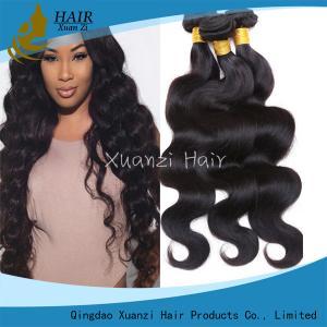 China Durable 3 Bundles Virgin Indian Hair , Peruvian Weaving Human Hair Weave on sale