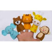 Funny Wild Animal Felt Finger Puppets , Cute Monkey Finger Puppets
