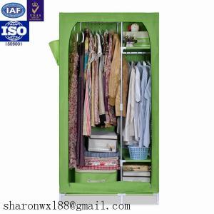 Quality Portable storage cabinet design assemble metal wardrobe bedroom furniture for sale  sc 1 st  Shoe Rack - Everychina & Portable storage cabinet design assemble metal wardrobe bedroom ...