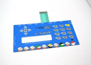 China Push Button Membrane Switch Panel With LCD Clear Window No Embossing on sale