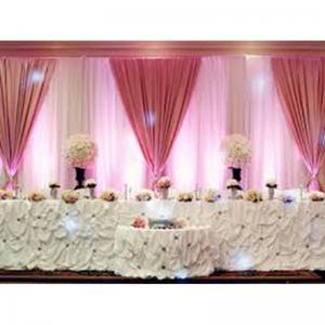 China TDS814 aluminum backdrop stand pipe drape stage wall drapes for party decoration aluminum pipe drape on sale