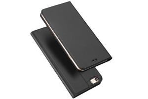 China Book Style iPhone Protective Cases Black color leather case for iphone 6 on sale