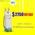Released in August! The Most Featured 2-handles SHR Hair Removal Machine Vertical/White