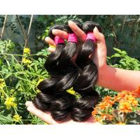 China Healthy 100% Malaysian Human Hair Weave Natural Black / Dark Brown From Young Girl on sale