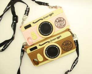 China Cool Camera Design Silicone Soft iphone protective covers and cases With String on sale