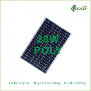 China 20Wp Small PV Solar Modules Home Applications 20Watt 18VDC Aluminium Frame on sale