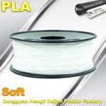 Soft PLA 3D Printer filament., 1.75 / 3.0mm, White Color
