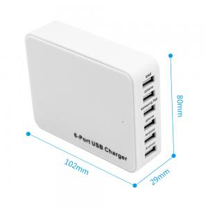 China High Efficiency 6 Port Multiple Usb Charger , Durable Dual 5 Amp Usb Charger on sale