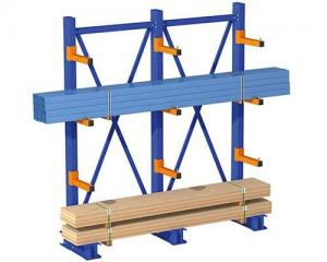 China Metal Q235 Cantilever Lumber Storage Racks in Red / Blue Color on sale