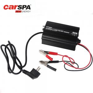 China Emergency 3 Stage Car Battery Charger 12V 20A Electric Protections on sale