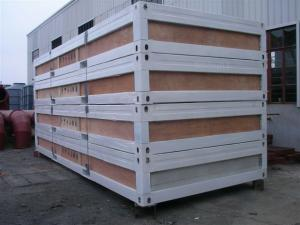 China Self Packed Type Container Modular House With Color Bond Sandwich Panel OEM on sale