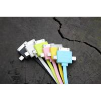 China Colorful 3 in 1 Universal Cell Phone USB Cable 30 Pin For IPhone 4 Charging on sale