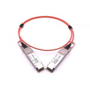 China 40GBase AOC QSFP+ direct attach Active Optical Cable 10 meters 10.3G/CH Datarate on sale