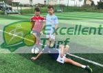 Monofilament PE  Artificial Grass Projects , Durable Upright Fake Sports Grass With Double Color