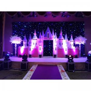 China RGB full color backdrops  christmas decoration event gold plated hanging items led star curtain on sale