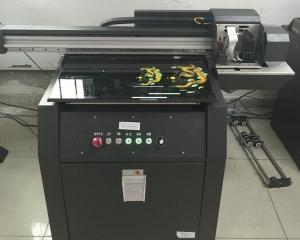 China 9060 UV digital flatbed printer for promotion products,  digital UV LED printer on watch belt comb and woodbox on sale