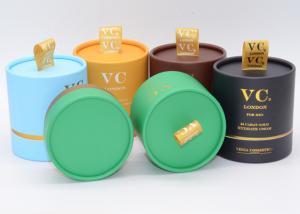 Decorative Storage Round Cardboard Gift Box With Lids Tea Branded
