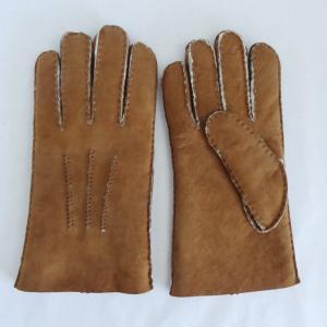 China Merino Shearling Sheepskin Mens Lambskin Gloves Customized Size Slink Lining on sale