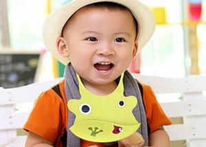 China Customized Yellow Flexible Silicone Baby Bibs Non - Toxic With Animal Shape on sale