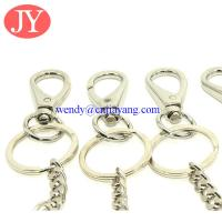 Snap hook with key chain link zinc alloy key rings chains