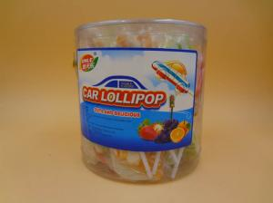 China Multicolor Sweet Fruity Healthy Hard Candy Eco - Friendly Race Car Lollipops on sale