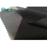 White / Black Polyester Plain Weave Woven Fusing Interlining For Garment Accessories