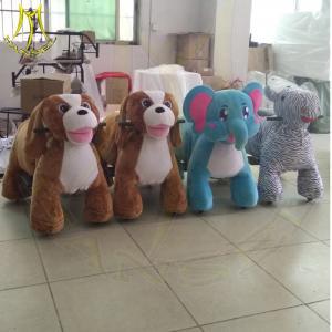 China Hansel hot selling amusement electric kids ride on motorized stuffed animals on sale
