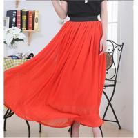 new wholesale retro black elastic waist Bohemian Princess chiffon long skirt fashion Women