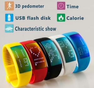 China personalized signauture 3D pedometer smart bracelet watch usb flash disk on sale