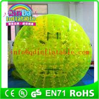 QinDa Inflatable Aqua Zorb Ball for sale human bubble ball Grass Zorbing Ball