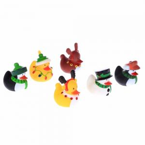 China Holiday Decorated Christmas Rubber Duck Candles Design For Carnival Game on sale
