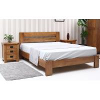 Complete Economic Dark Wood Bedroom Set , Solid Wood Contemporary Bedroom Furniture