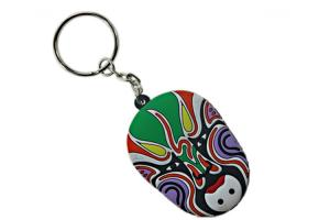 China Promotional Custommized 3D Soft Pvc Keychain Key Chain Soft PVC Rubber Keychains on sale